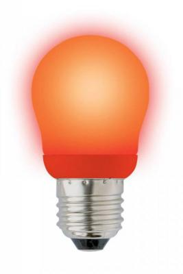 Лампа энергосберегающая шар Uniel 02955 E27 9W ESL-G45-9/RED/E27