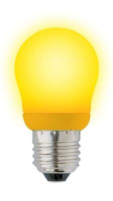 Лампа энергосберегающая шар Uniel 02977 E27 9W ESL-G45-9/YELLOW/E27