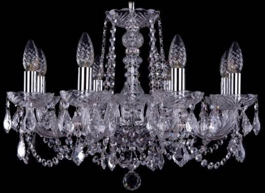 Подвесная люстра Bohemia Ivele 1402/8/195/Ni/Leafs bohemia ivele crystal 1402 8 195 ni leafs