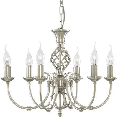 Подвесная люстра Arte Lamp Zanzibar A8392LM-6SS люстра потолочная ��оллекция zanzibar a8392lm 6ab бронза arte lamp арте ламп