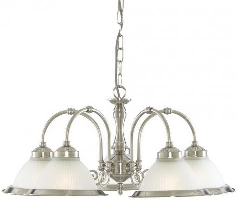 Подвесная люстра Arte Lamp American Diner A9366LM-5SS люстра на штанге arte lamp cloud a8170pl 5ss