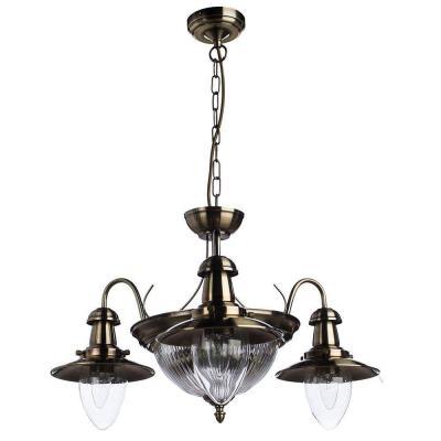 Подвесная люстра Arte Lamp Fisherman A5518LM-2-3AB arte lamp подвесная люстра arte lamp bellator a8959sp 5br