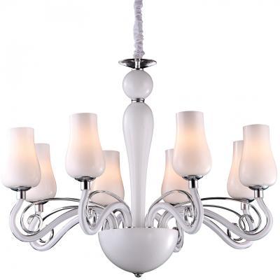 Подвесная люстра Arte Lamp Biancaneve A8110LM-8WH подвесная люстра arte lamp biancaneve a8110lm 8wh