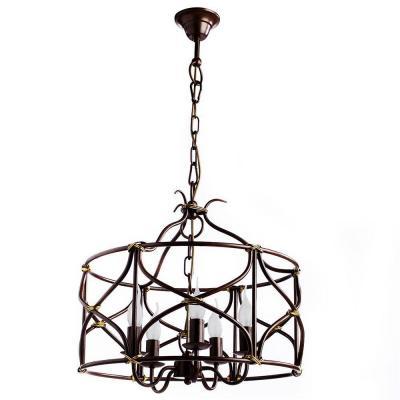 Подвесная люстра Arte Lamp Bellator A8959SP-5BR потолочная люстра arte lamp mormorio a9361pl 5br