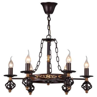 Подвесная люстра Arte Lamp Cartwheel A4550LM-6CK подвесная люстра arte lamp bene a9179sp 6ck