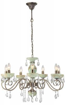 Подвесная люстра Arte Lamp Onyx Green A9592LM-7AB