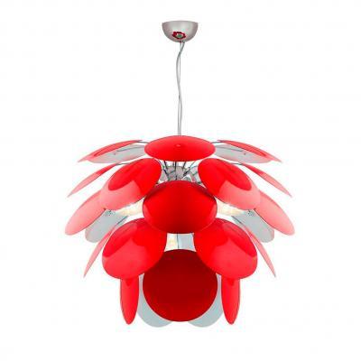 Подвесная люстра Luce Solara Moderno 3000/4S Red/White moderno 3033 6pl white glass luce solara 1142985