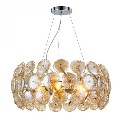 Подвесная люстра Luce Solara Moderno 3032/6S Amber glass moderno 3033 6pl white glass luce solara 1142985