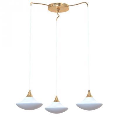 Подвесная люстра Luce Solara Moderno 8001/3S Gold/White подвесная люстра luce solara moderno 8001 3s gold cream