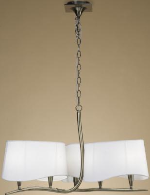 Подвесная люстра Mantra Ninette Antique Bras 1920 подвесная люстра mantra ninette 1910