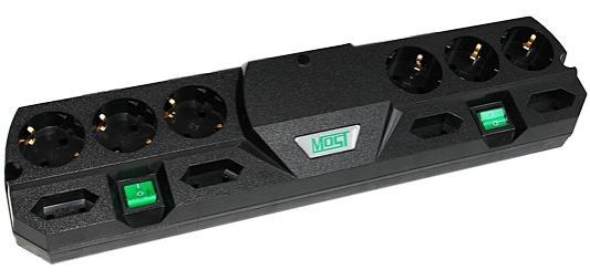 Сетевой фильтр MOST TRG черный 10 розеток 5 м