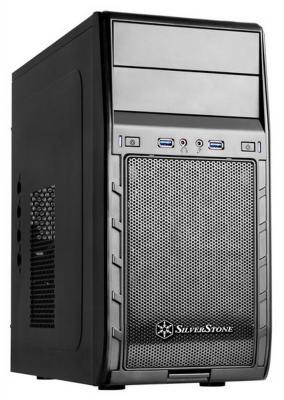 Корпус microATX SilverStone Precision SST-PS12B Без БП чёрный