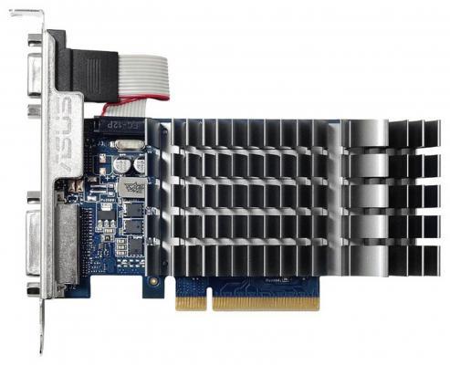 Видеокарта 1024Mb ASUS GeForce GT710 PCI-E 64bit GDDR3 DVI HDMI  VGA 710-1-SL Retail видеокарта 1024mb inno3d geforce gt710 pci e dvi hdmi vga hdcp n710 1sdv d3bx retail