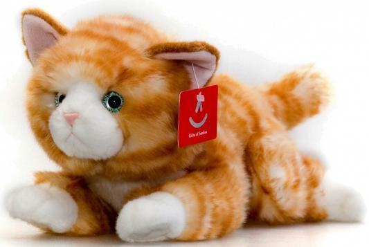 Мягкая игрушка Aurora Котенок искусственный мех плюш рыжий 28 см