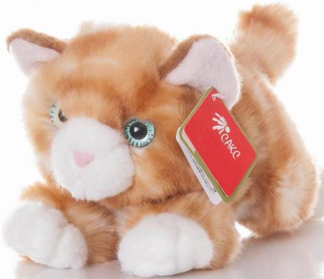 Мягкая игрушка Aurora Котенок искусственный мех плюш рыжий 22 см
