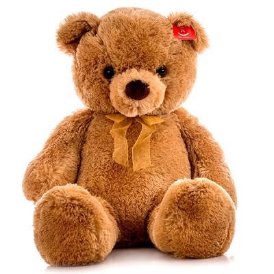 Мягкая игрушка Aurora Медведь искусственный мех коричневый 80 см