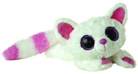 Мягкая игрушка лисица Aurora Юху и друзья Лисица Памми лежачая синтепон плюш белый 16 см