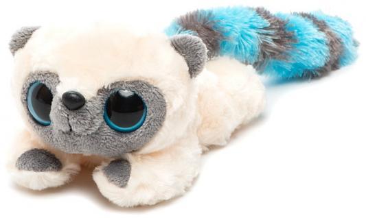 Мягкая игрушка лемур Aurora Юху и друзья Юху лежачий плюш синтепон голубой 16 см