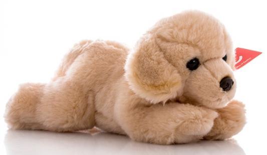 Мягкая игрушка собака Aurora Палевый лабрадор плюш синтепон кремовый 28 см