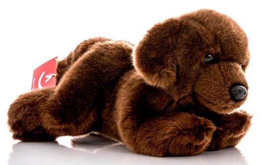Мягкая игрушка собака Aurora Шоколадный лабрадор плюш синтепон коричневый 28 см
