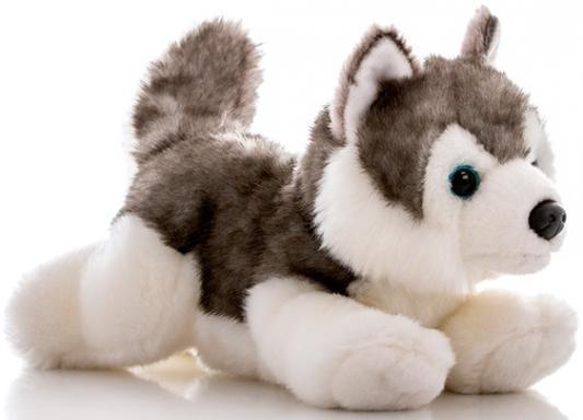 Мягкая игрушка собака Aurora Лайка плюш белый серый 28 см 300-11 4moms электронное mamaroo 3 0 серый плюш