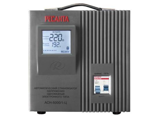 Стабилизатор напряжения Ресанта ACH-5000/1-Ц 63/6/6 серый 1 розетка