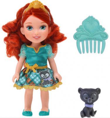 Кукла Disney Принцессы Дисней Малышка с питомцем, Мерида 15 см