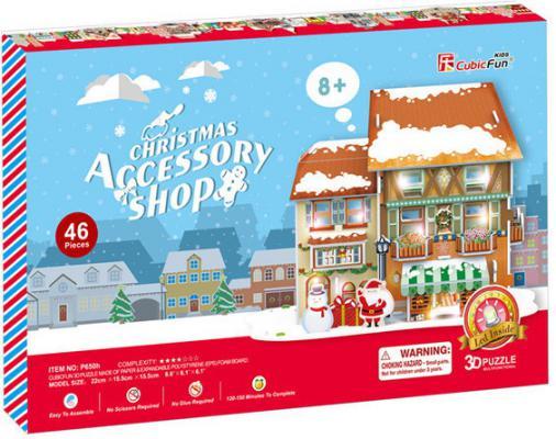 Пазл 3D CubicFun Рождественский домик 4 с подсветкой P650h 46 элементов P650h