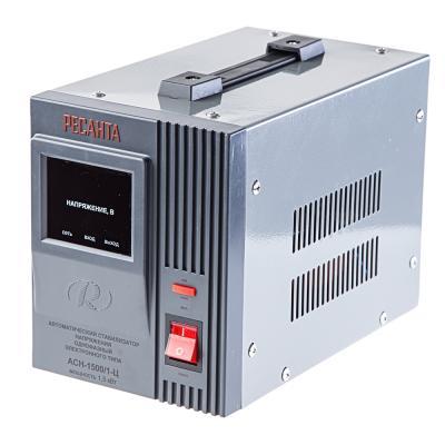 Стабилизатор напряжения Ресанта ACH-1500/1-Ц 63/6/3 серый 1 розетка стабилизатор напряжения ресанта ach 30 000 3 ц