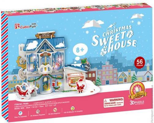 Пазл 3D CubicFun Рождественский домик 2 с подсветкой P648h 56 элементов 40818 пазл 3d cubicfun небоскреб эмпайр стейт билдинг сша 39 элементов c704h