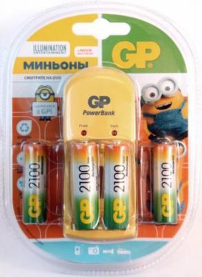 Зарядное устройство + аккумуляторы GP GPPB350GS210MIN-2CR4 2100 mAh AA 4 шт