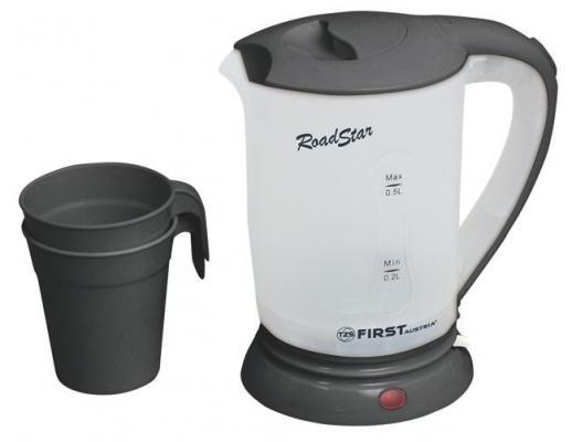 Чайник First 5425-2 700 Вт чёрный 0.5 л пластик чайник first 5425 2 700 вт чёрный 0 5 л пластик