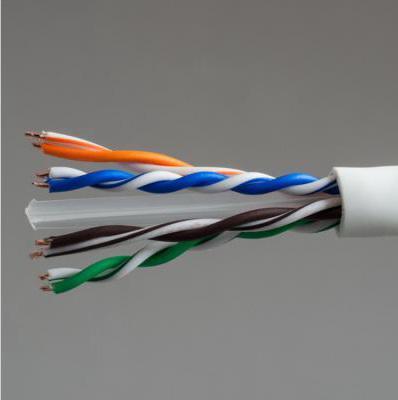 Кабель U/UTP indoor 4 пары категория 6 Hyperline одножильный 4x2xAWG23 100% медь PVC UUTP4-C6-S23-IN-PVC-GY-305 305м серый