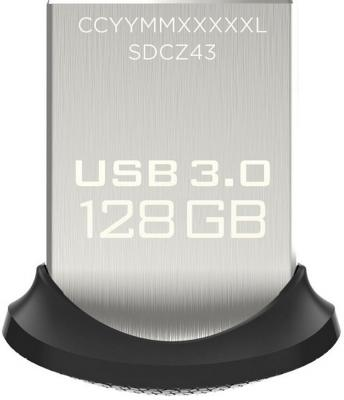 Флешка USB 128Gb SanDisk Ultra Fit SDCZ43-128G-GAM46 черный флешка usb 128gb corsair voyager go cmfvg 128gb черный