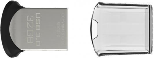 Флешка USB 32Gb SanDisk Ultra Fit SDCZ43-032G-GAM46 черный флешка usb 32gb sandisk ultra dual sddd2 032g gam46 черный