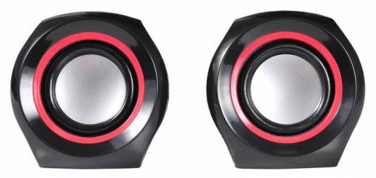 Колонки Oklick OK-206 2x2Вт черный/красный
