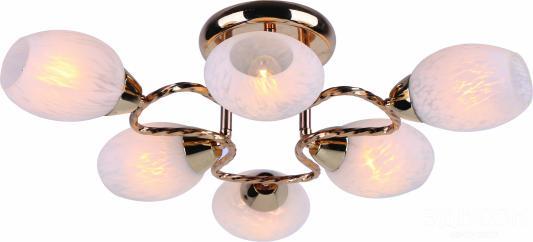 Потолочная люстра Arte Lamp Cosetta A6211PL-6GO arte lamp потолочный светильник arte lamp cosetta a6211pl 6go