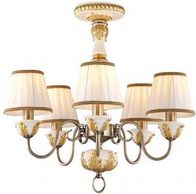 Потолочная люстра Arte Lamp Benessere A9570PL-5WG люстра на штанге arte lamp benessere a9570pl 5wg