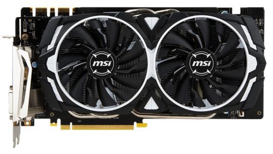 Видеокарта 8192Mb MSI GeForce GTX 1070 ARMOR 8G OC PCI-E 256bit GDDR5X DVI HDMI DP Retail видеокарта 8192mb msi geforce gtx 1080 gaming x 8g pci e 256bit gddr5x dvi hdmi dp retail