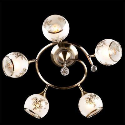 Потолочная люстра Eurosvet 9611/5 античная бронза/белый