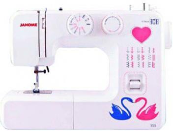 Швейная машина Janome 555 белый швейная машинка janome sew mini deluxe