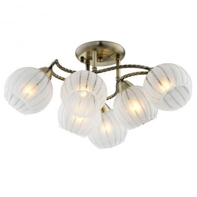 Потолочная люстра IDLamp Carlota 244/6PF-Oldbronze id lamp потолочная люстра 816 6pf oldbronze