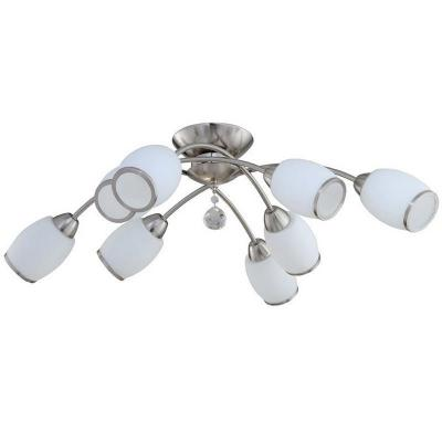 Потолочная люстра IDLamp Nikolina 804/8PF-Whitechrome idlamp светильник потолочный 856 8pf whitechrome