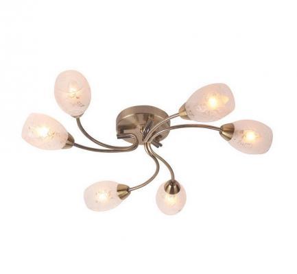 Потолочная люстра IDLamp Carmina 201/6PF-Oldbronze id lamp потолочная люстра 816 6pf oldbronze