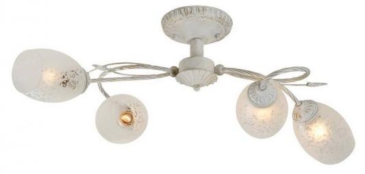 Потолочная люстра IDLamp Julia 874/4PF-Whitepatina idlamp бра idlamp julia 874 1a whitepatina