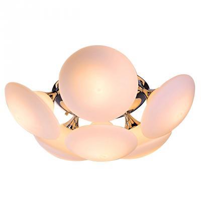 Потолочная люстра Luce Solara Moderno 8001/6PL Gold/Cream moderno 3033 6pl white glass luce solara 1142985