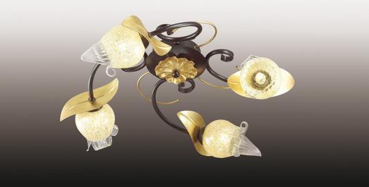 Потолочная люстра Odeon Anaba 2691/4C odeon люстра потолочная odeon anaba 4 плафона коричневый с золотом прозрачный с желтым 2691 4c