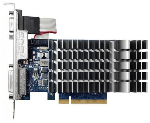 Видеокарта ASUS GeForce GT 710 GT710-1-SL PCI-E 1024Mb 64 Bit Retail видеокарта asus pci e r5230 sl 2gd3 l amd