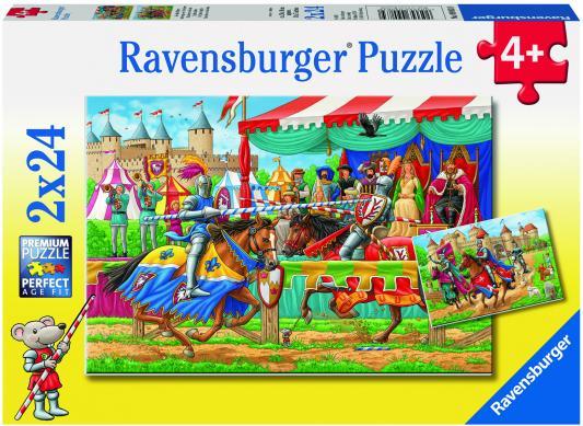 Пазл Ravensburger Рыцари 48 элементов 09083 ravensburger пазл 2 в 1 стройплощадка 48 деталей