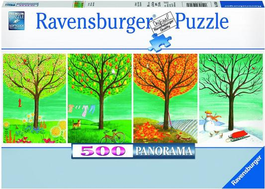 Пазл Ravensburger 4 сезона 500 элементов 14706 пазл ravensburger пазл ravensburger три лошади 500 элементов 145669 500 элементов